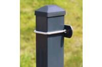 Pfosten m. U-Bügel für Doppelstabmattenzaun farbig - Höhe von 110cm bis 300cm