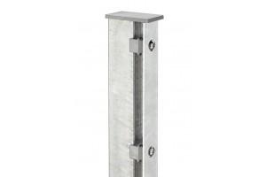 Pfosten m. Abdeckleiste für Doppelstabmattenzaun feuerverzinkt - Höhe von 110cm bis 300cm