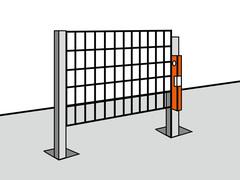 Fundament-Löcher mit Beton füllen
